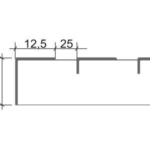 [2575-03] L-Profil für DLS Roste imi Detail
