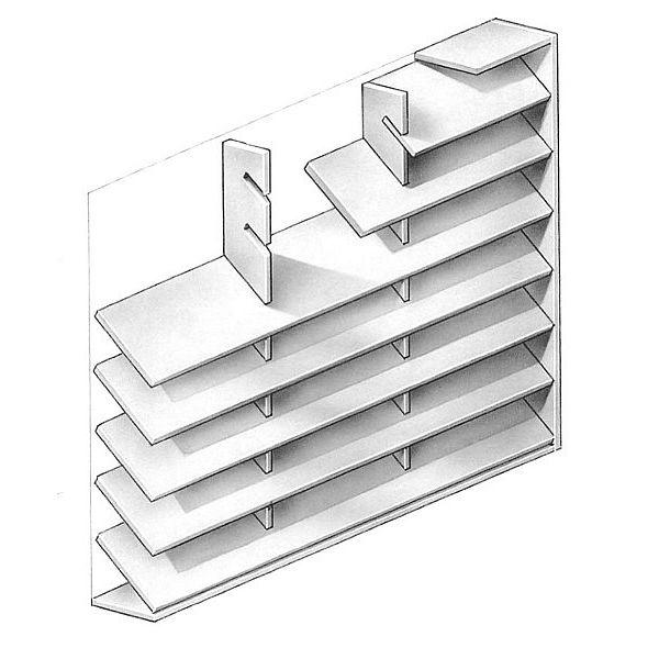 Die Jalousien aus Stahl erstrecken sich bis zur dritten Etage   Hier der Grundriss
