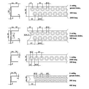 [2591-03] Lagermaße für Leitersprossen