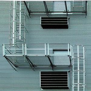 [2595-05] Steigleiter zweizügig mit Podest