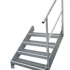 [2629-05] Wangentreppe mit Geländer einseitig