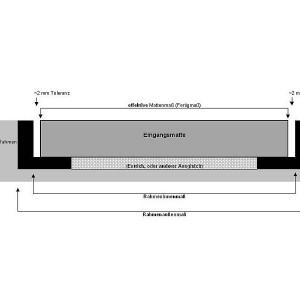 [2583-04] Einbau für Rahmen mit Eingangsmatte