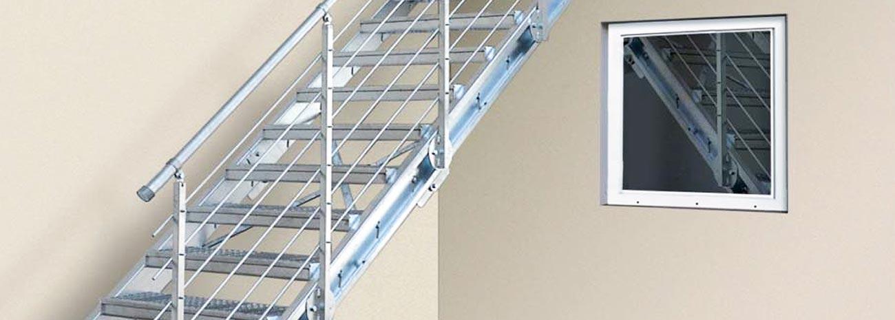 Super Treppen-System-Bausatz - K60 Gitterroste aus Edelstahl | Normroste LR48
