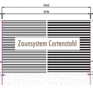 [5396-03] Zaunanlagensystem Cortenstahl