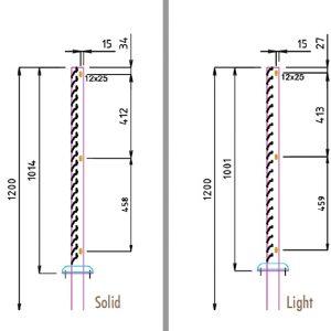 [5396-02] Zaunanlagensystem Cortenstahl