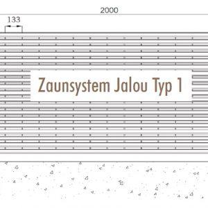 [5346-05] Zaunanlagensystem Jalou Typ 1