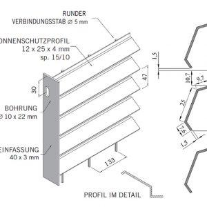 [5346-04] Zaunanlagensystem Jalou Typ 1