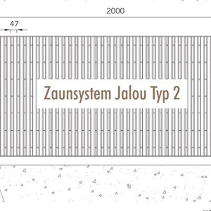 [5362-05] Zaunanlagensystem Jalou Typ 2